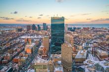 Aerial View Of Boston In Massa...