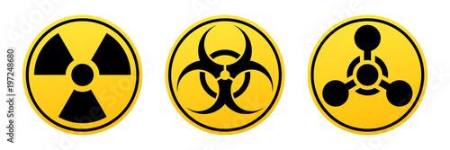 Fototapeta Danger vector signs
