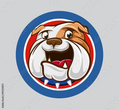 Fotografie, Obraz  bulldog badge