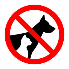 Prohibition Sign Stop Pet Dog ...