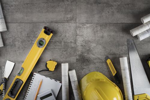 Fototapeta Contractor concept background. obraz na płótnie