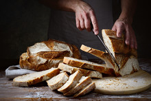 Traditional Bread Cut Into Slices