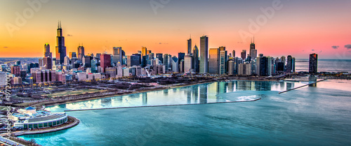 Photo  Chicago Sunset