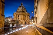 Radcliff Camera In Oxford In Starry Night, United Kingdom