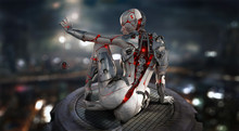 Female Cyborg Android Character