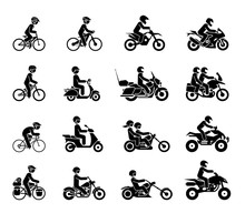 Collection Of Motorcycles And ...