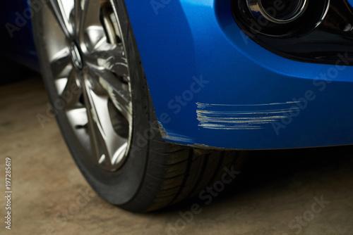 Fotografie, Obraz Dent car scratch