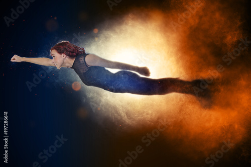Photo  Falling or Flying Woman