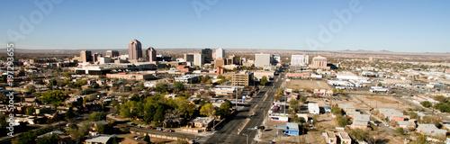 Albuquerque Downtown City Metro Skyline Desert South New Mexico Wallpaper Mural