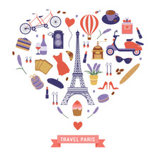 Love Paris Card With Eiffel To...