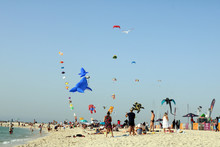 Colorful Kites In Deep Blue Sk...