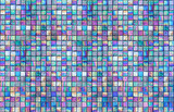 Fototapeta Łazienka - Colorful multi color seamless square tiles for bathroom, kitchen or background use.