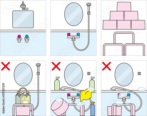 Fotomural 銭湯などの入浴のマナー、エチケット