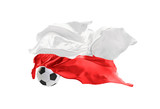 Fototapeta Sport - The national flag of Poland.