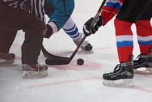 Ice Hockey Players Play Ice Hockey