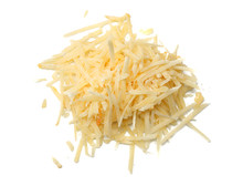 Grated Cheese Isolated On Whit...