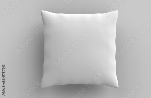 Blank white pillow cushion ready for your design. 3d render illustration