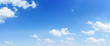 Panorama sky and cloud natural background.