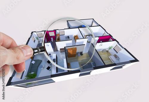 Audit diagnostic et plan intérieur d\'une maison appartement – kaufen ...