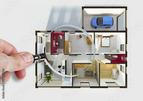 Audit diagnostic et plan intérieur d\'une maison appartement ...