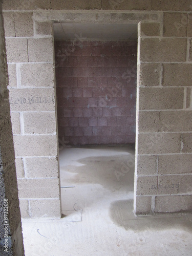 Raum Rohbau Beton Eigenhaum Haus Buy This Stock Photo And Explore