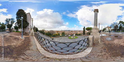 Viewpoint Of Rome From Terrazza Viale Del Belvedere Buy