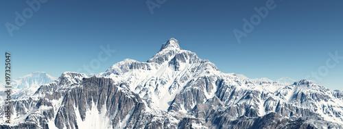 Papiers peints Arctique Bergpanorama mit schneebedeckten Bergen