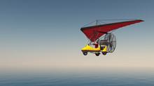 Ultraleichtflugzeug über Dem ...