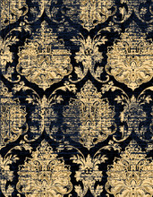 Highly Detailed Abstract Texture Or Grunge Damask Background. For Art Texture, And Vintage Paper Or Border Frame, Modern Damask Pattern For Carpet, Rug,  Scarf, Clipboard , Shawl Pattern