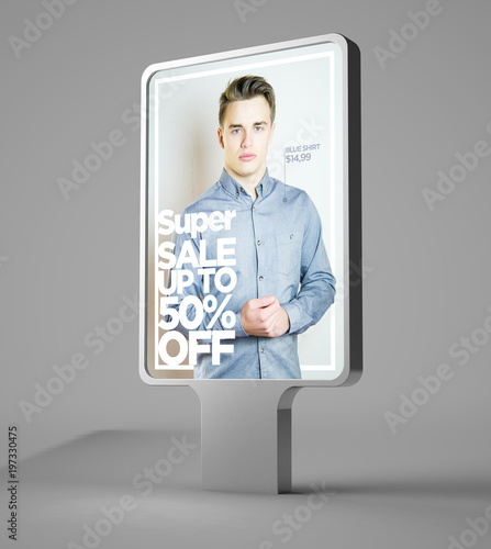 Fotografía  sales advertising billboard mockup