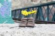 zapatos con flores en las vias