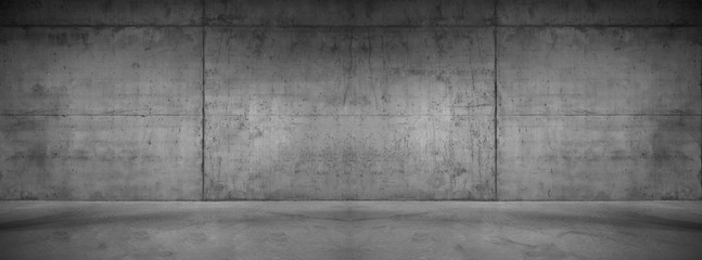 Wide concrete background wall texture for composing
