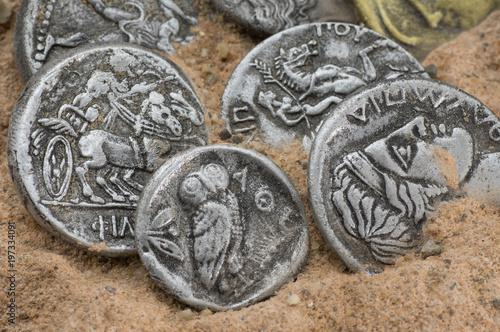 Antike Griechische Münzen Buy This Stock Photo And Explore Similar