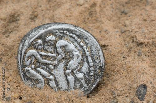 Antike Griechische Münzen Kaufen Sie Dieses Foto Und Finden Sie
