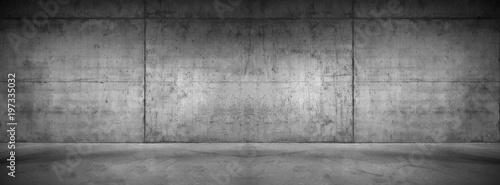 Moderne Betonmauer Hintergrund Textur Graue breite Steinwand mit Boden Canvas Print