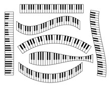 Piano Keyboard Set, Isolated O...