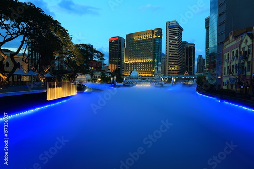 Keuken foto achterwand Kuala Lumpur Kuala Lumpur at the night, Malaysia