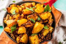 Indian Food, Bombay Potatoes O...