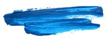 Blue Gouache Brush Stroke