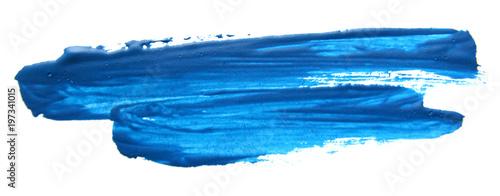 Cuadros en Lienzo Blue gouache brush stroke