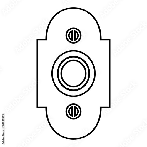 фотографія  Doorbell icon black color illustration flat style simple image