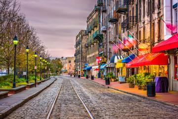 River Street, Savannah, Georgia, USA