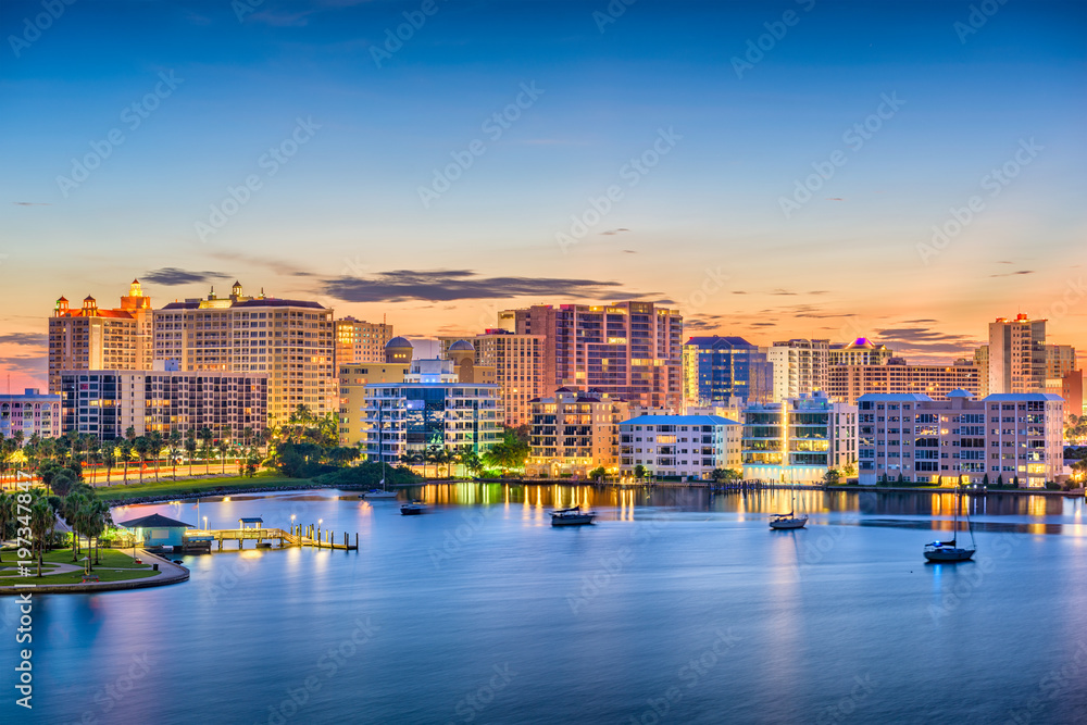 Fototapety, obrazy: Sarasota, Florida, USA Skyline