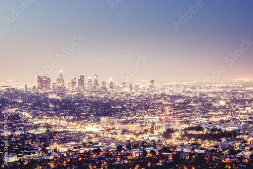 Poster Las Vegas Los Angeles Skyline