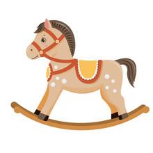 Rocking Horse.Baby Toy. Isolat...