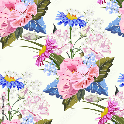 Wallpaper designs pretty flowers seamless print picturesboss seamless pattern with beautiful garden flowers flower background for textile cover wallpaper jpg 500x500 wallpaper designs mightylinksfo