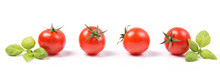 Fresh Ripe Cherry Tomatoes Wit...