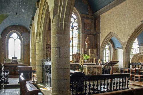 Foto op Canvas Krakau Goulven. Intérieur de l'église saint Goulven. Finistère. Bretagne