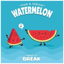 Vintage Fruit Poster Design Wi...
