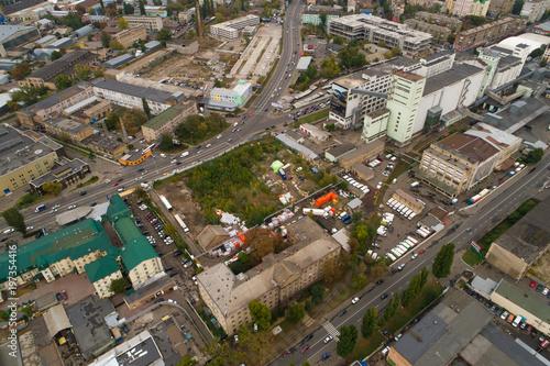 Tuinposter Centraal-Amerika Landen Aerial cityscape shot. Kyiv, Ukraine.